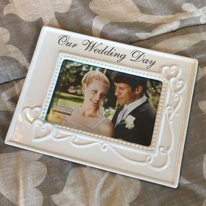 Other - Our Wedding Day Picture Frame White New
